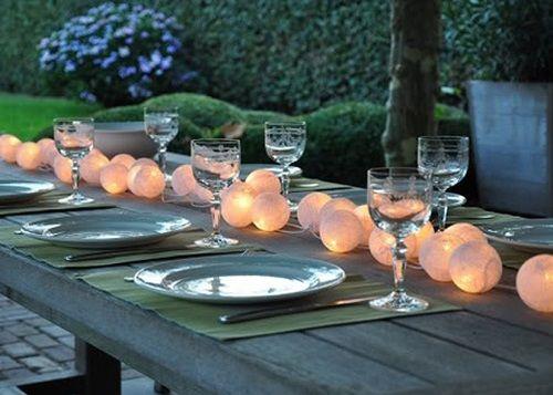 guirnaldas iluminadas centro de mesa