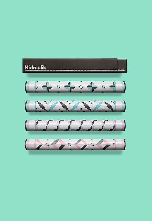 hidraulik packaging alfombras modernistas diseño baldosas