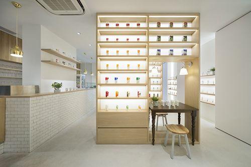interiorismo nature's way tienda cafeteria diseño interiores okis sato nendo design