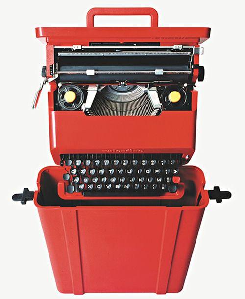 maquina de escribir valentine ettore sottsass olivetti
