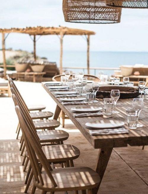 mesas de exterior sin mantel