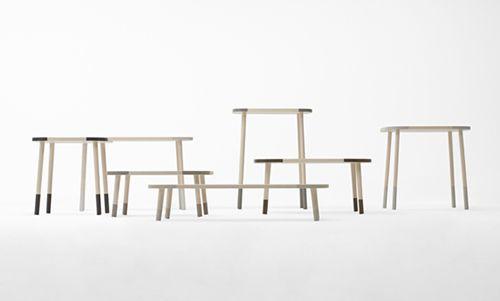 mesas diseño mobiliario producto nendo design oki sato