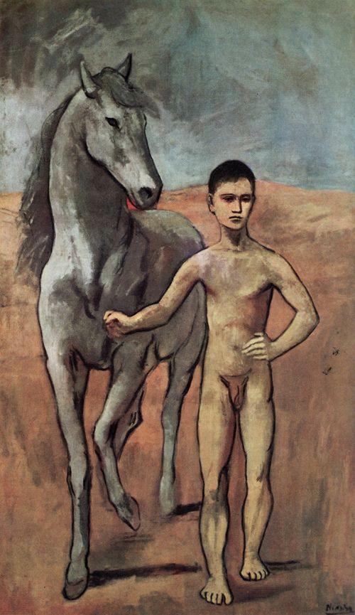 """""""Muchacho desnudo conduciendo un caballo"""", Pablo Picasso (1906)"""