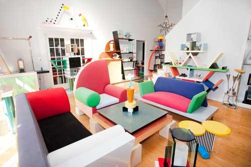 muebles diseño memphis estilo ettore sottsass