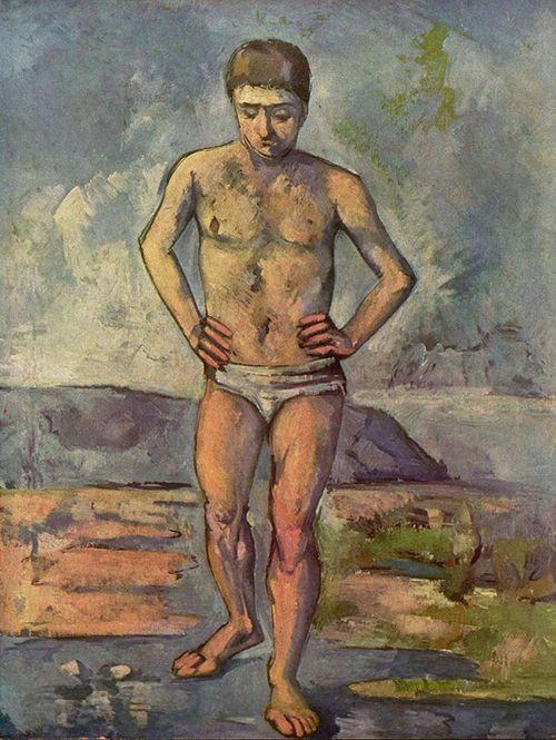 """""""El bañista"""", Paul Cézanne (1887)"""