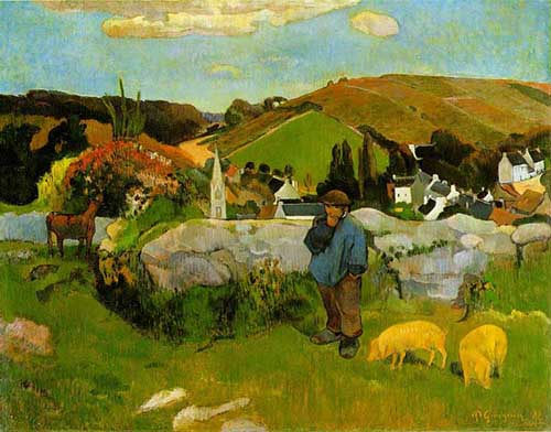 paul gauguin swineherd cuadro los angeles county museum of art lacma