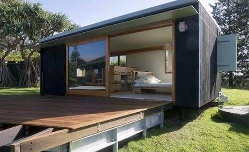 porche casa prefabricada de diseño
