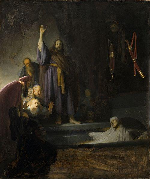 rembrandt la resurreccion de lazaro arte cuadro los angeles county museum of art lacsa