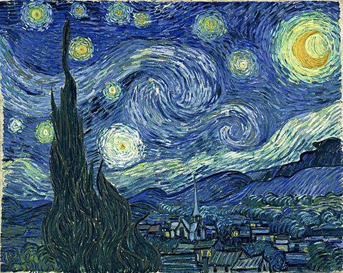 """""""Noche estrellad"""", Vincent Van Gogh (1889)"""