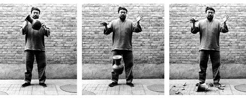 ai wei wei dropping a han dinasty urn obra artista chino