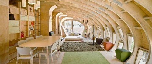 interior minicasa sostenible