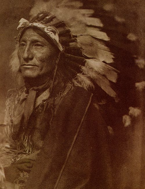 indian chief gertrude kasebier fotografia retrato