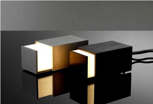 lampara en una caja