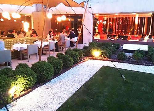 terraza interior restaurante the hall madrid
