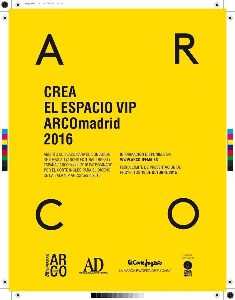 cartel concurso sala vip arco madrid 2016