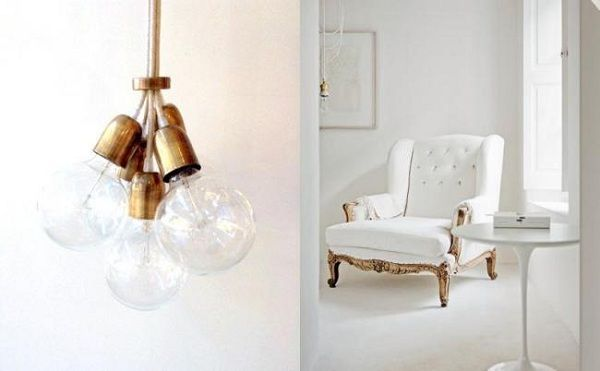 Luces y sofa