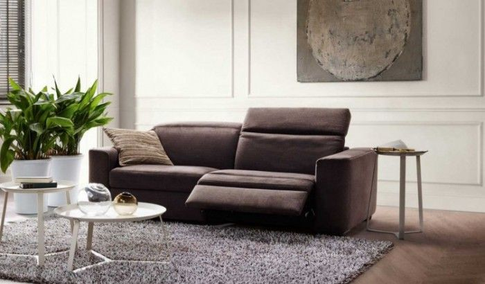 sofa marron moderno natuzzi