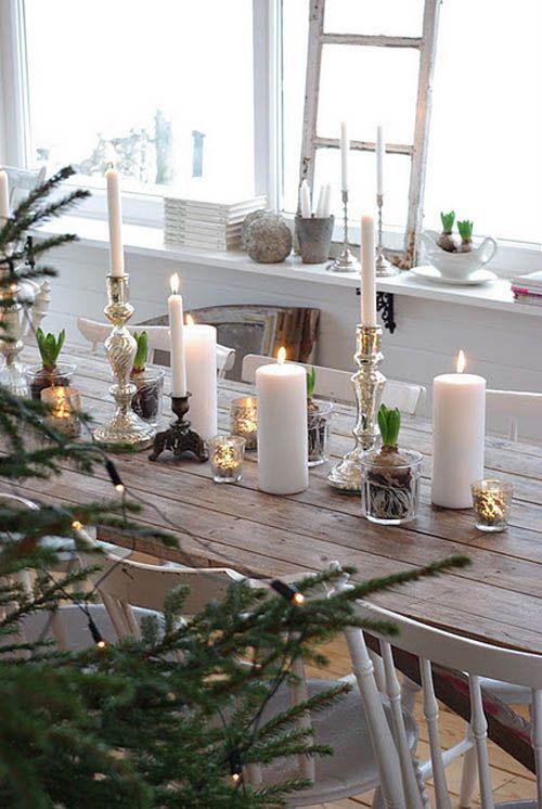 decoracion mesas navidad