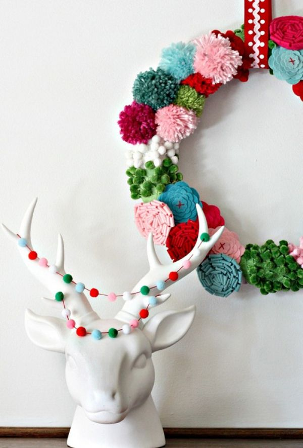 decoracion navidad guirnaldas colores
