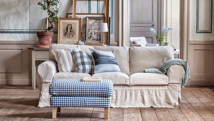 ektorp ikea sofa 3 asientos unbleached bemz