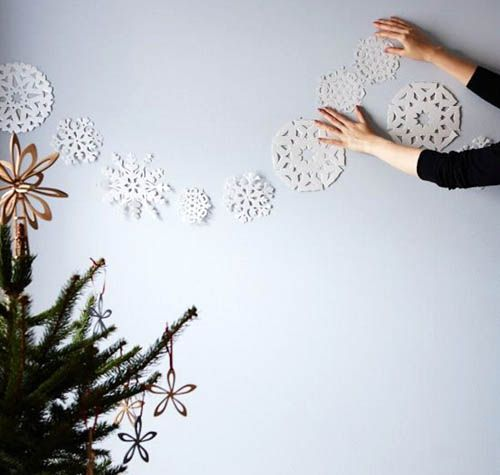 guirnaldas de pared navidad
