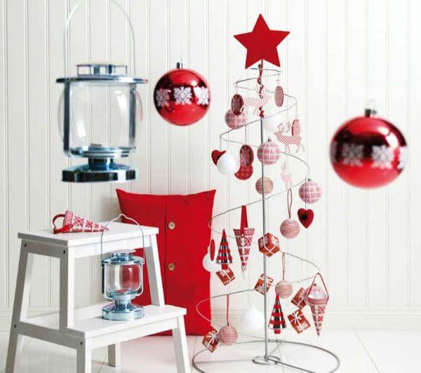 ideas decoracion arboles navidad rojo 14