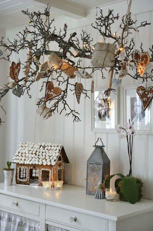 ideas decoracion navidad ramas