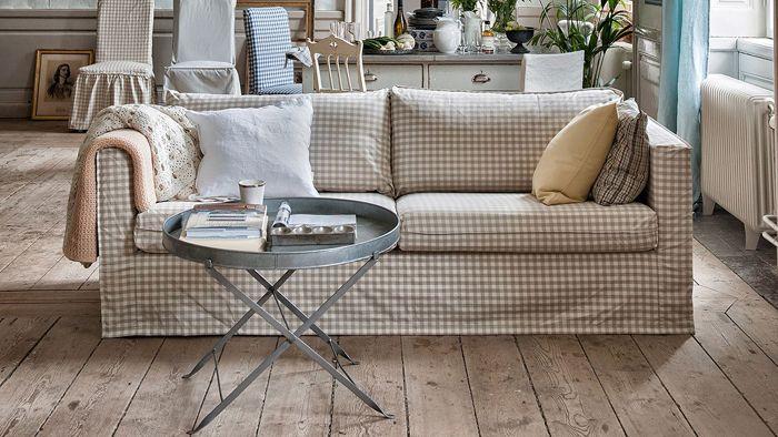 karlstad Ikea sofa 3 asientos vretagingham bemz