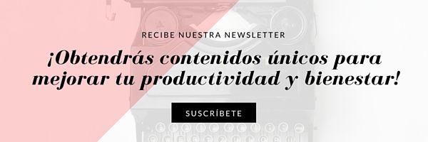 Recibe nuestra newsletter
