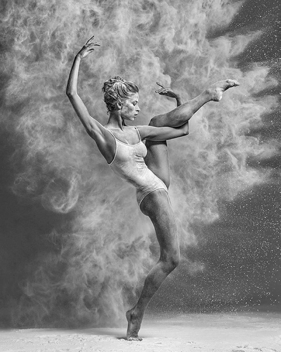 baile bailarina harina