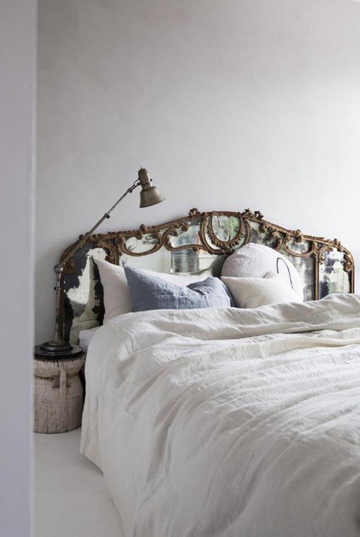 dormitorio cabecero espejo barroco