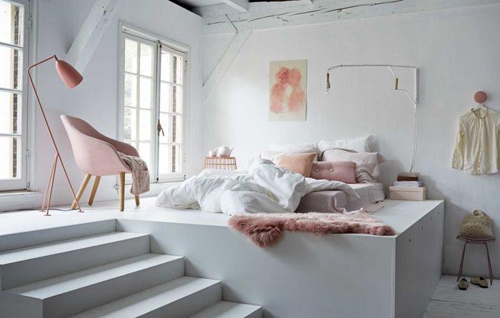 dormitorio en rosas minimalistaP
