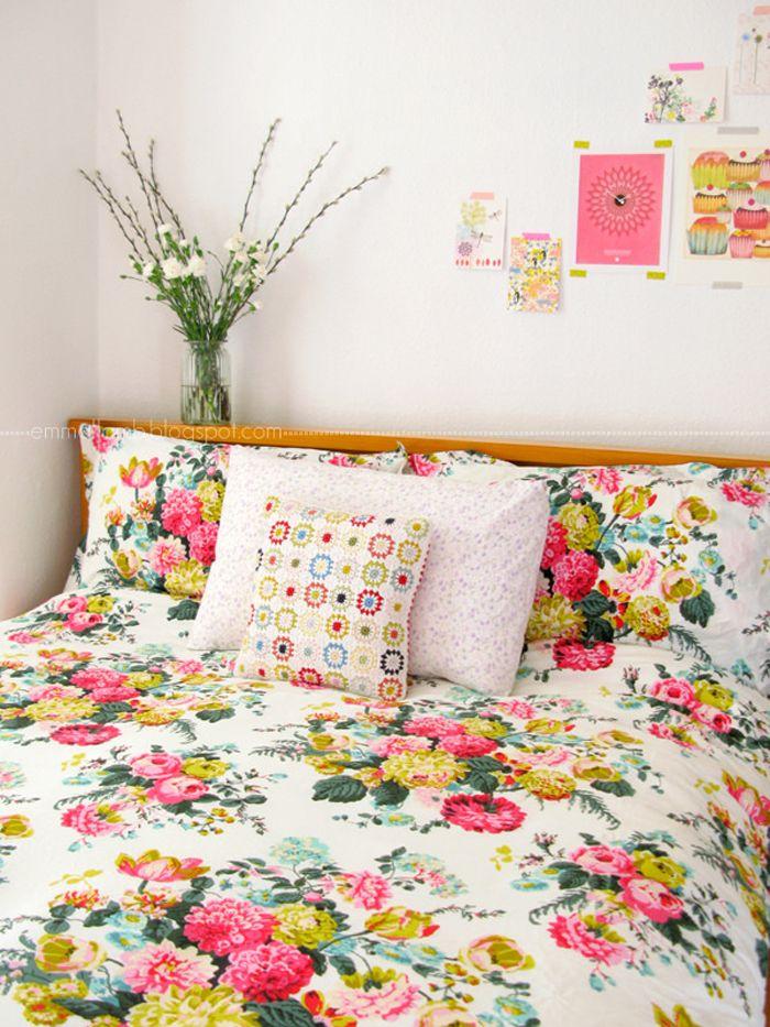 dormitorio flores femenino rosas
