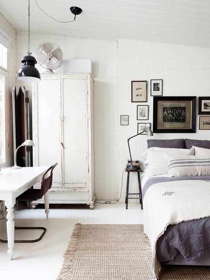 dormitorio vintage natural
