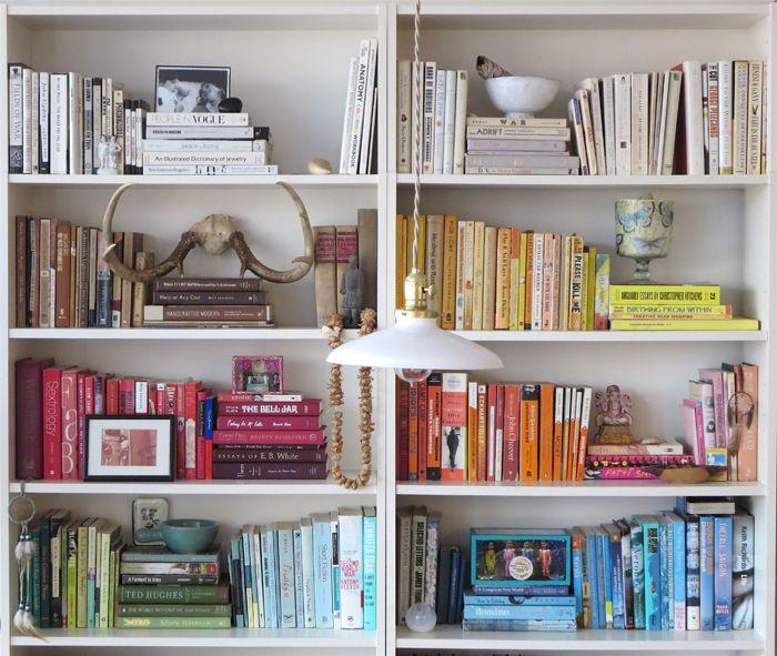 organizacion libros en casa