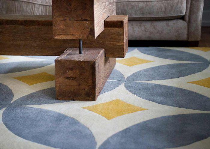 KILOMBO alfombra tonos azules