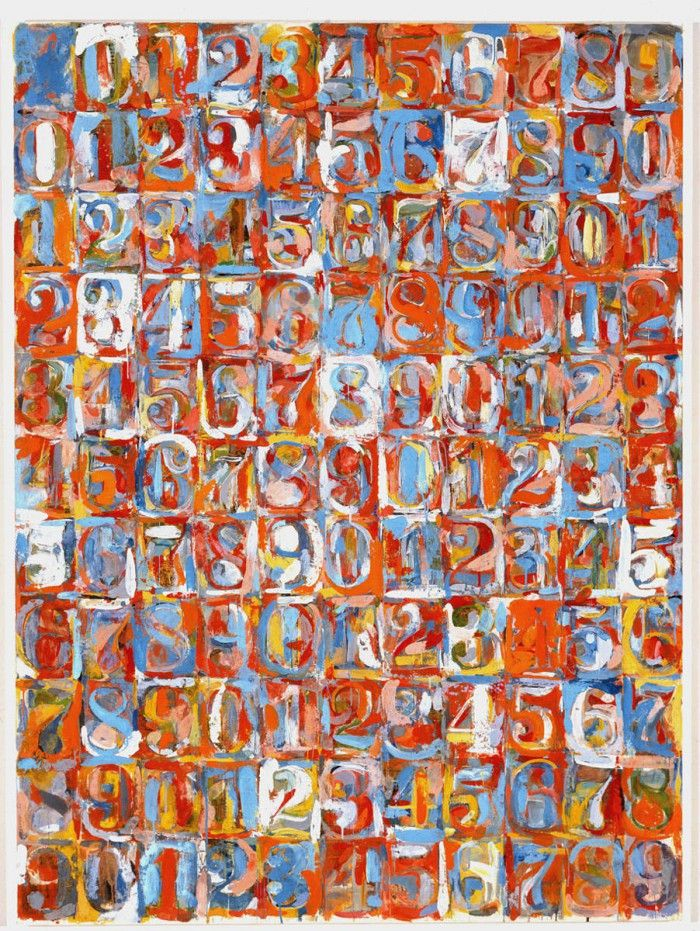 Numbers in color numeros colores obra artista pop art americano jasper johns