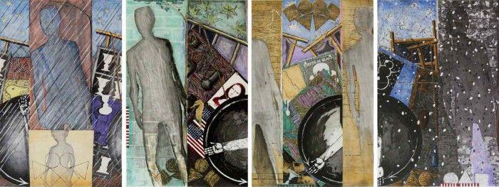 pintura seasons cuatro estaciones jasper johns artista pop art obra figura humana