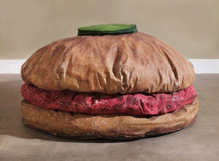 claes oldenburg floor burger hamburguesa gigante arte neo dada pop art comida