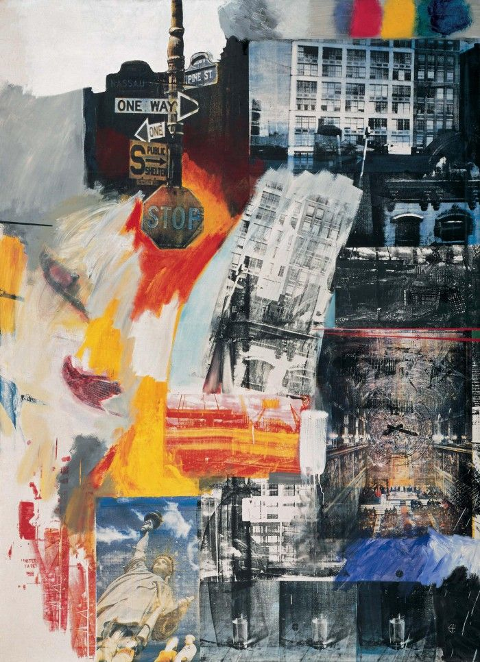 estate collage robert rauschenberg neo dada neodadaismo señal stop collage