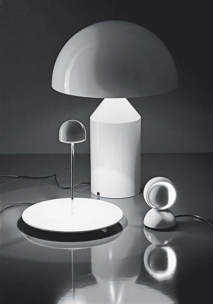 lamparas diseñadas vico magistretti geometricas esfera