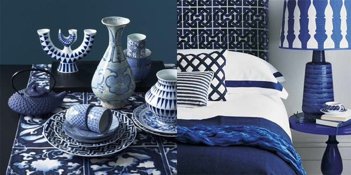 piezas sargadelos azul blanco florero vajilla taza diseño gallego porcelana cerámica loza