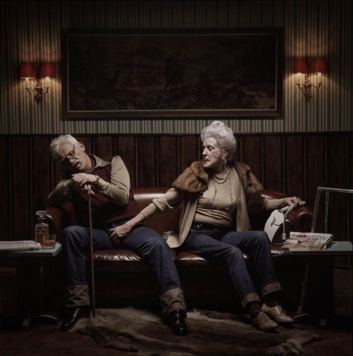 publicidad erwin olaf campana vaqueros diesel leon de plata cannes fotografia ancianos salidos sexo