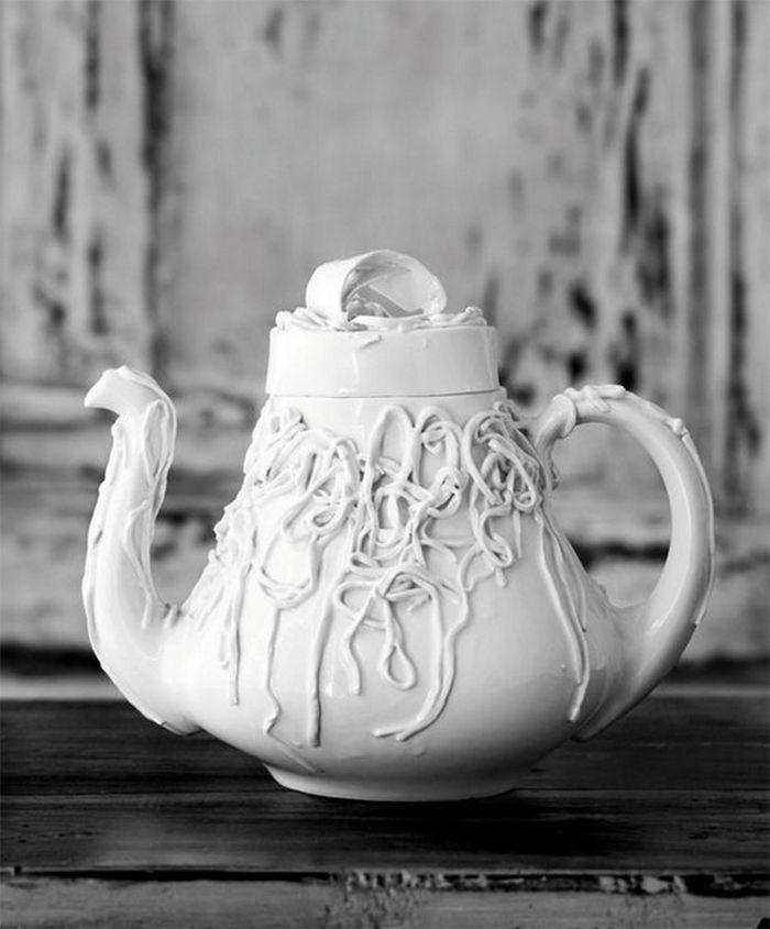 tetera blanca pepa poch sargadelos diseño español porcelana
