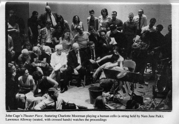 theater piece nº1 john cage obra neo dadaista neo dada músico violonchelo humano performance
