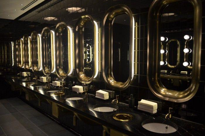 baño lavabos hotel mondrian de londres negro