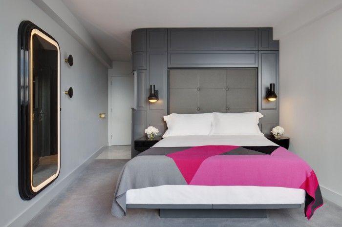 Habitacion Hotel Mondrian Londres diseño