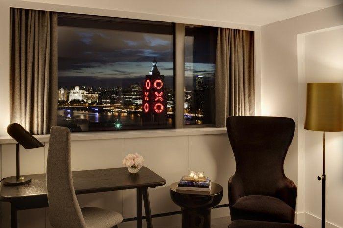 Vistas habitación Hotel Mondrian Londres tamesis rio