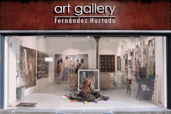 exterior galeria de artefernandez hurtado art gallery en segovia