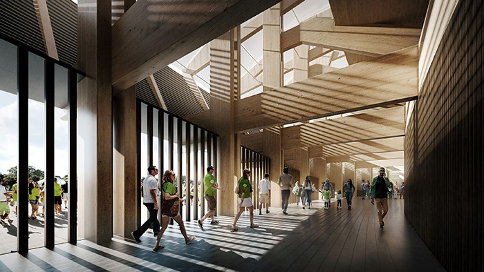 diseño de estadios de futbol futuristas